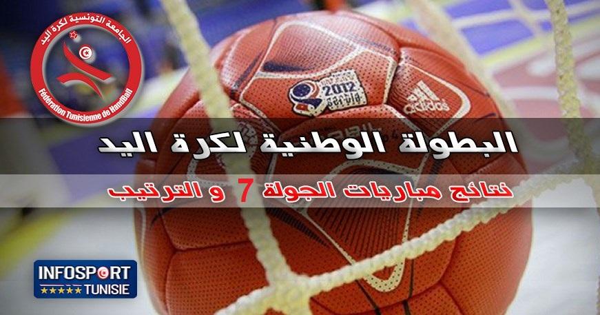 البطولة الوطنية لكرة اليد : النتائج الكاملة لمباريات الجولة 7 ذهاب مع الترتيب ...